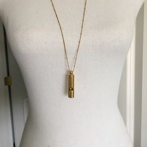 J. CREW gold whistle pendant necklace